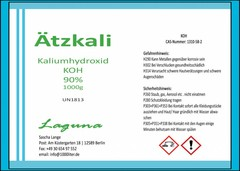 Ätzkali Kaliumhydroxid KOH/ Ätznatron Natriumhydroxid NaOH/ Natronlauge