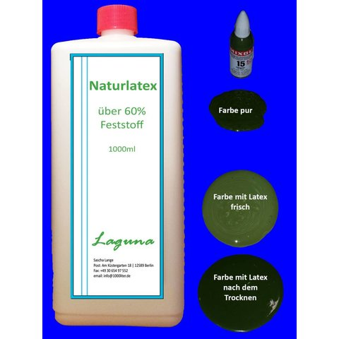 1 Liter LATEX olivgrün Latexmilch