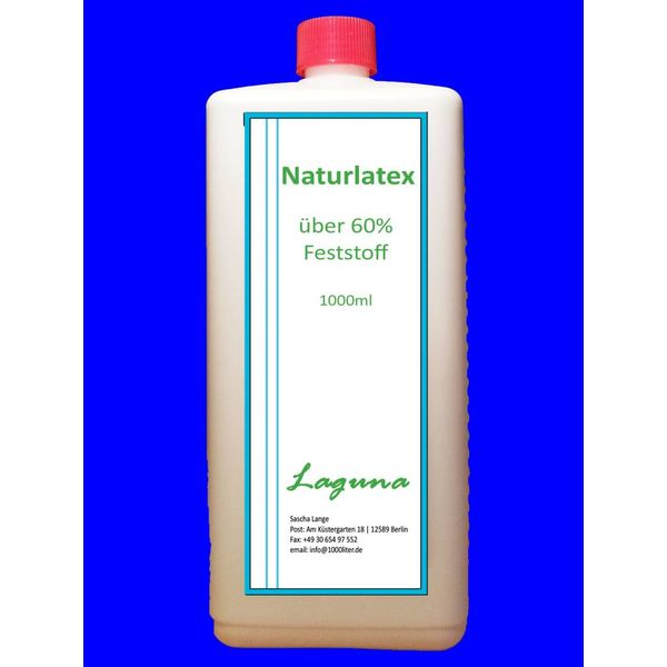1 Liter LATEX WEIß Latexmilch Naturgummi Flüssig flüssiges Liquid Gummimilch