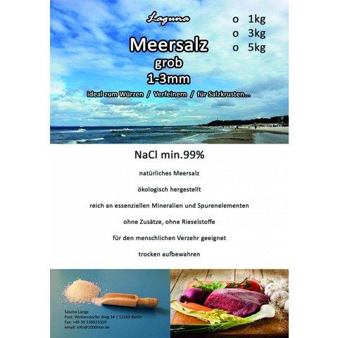 5kg Meersalz grob ohne Zusatzstoffe, ohne Rieselstoffe ökologisch hergestellt