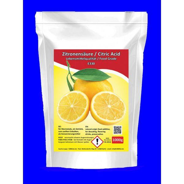 Zitronensäure 1 Kg Lebensmittelqualität E330