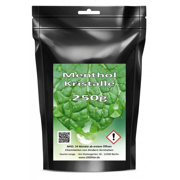 250 g Menthol Mentholkristalle Minze pharmazeutische Qualität für Saunaaufguß