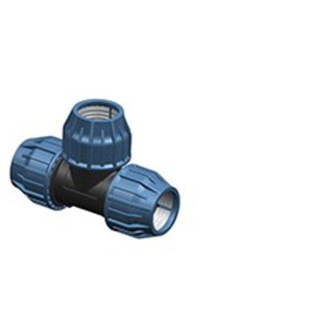 3 x PP Klemmverbinder 25mm, 25mm, 25mm Rohrverbinder T Stück für PE Rohr DVGW TrinkwasserPN16