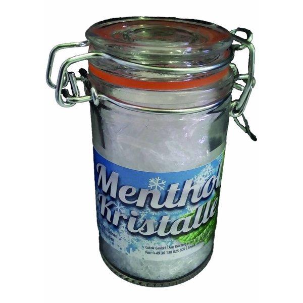 30g Mentholkristalle pharmazeutische Qualität im Dekorativen Bügelglas Saunaufguss