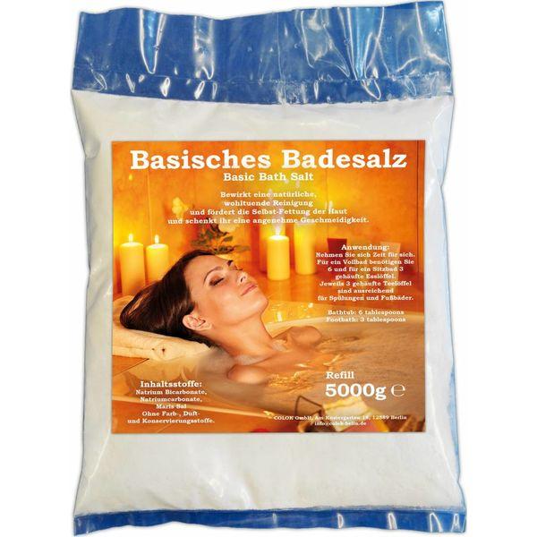 Basisches Badesalz 5000g Bad Salz Spa Entspannung 5kg Badezusatz Nachfüllbeutel …