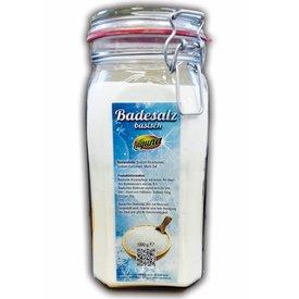 1.200 g Basisches Badesalz Bad Salz Spa Entspannung in dekorativem Glas …