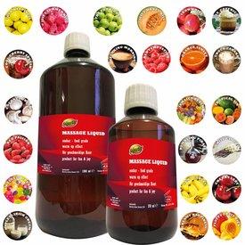 Massageöl ESSBAR Massagefluid Massageliquid 250ml 1L WÄRMEND 23 Sorten Lebensmittelqualität