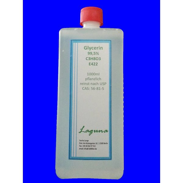 1L Liter Glycerin Glyzerin E422 reinst USP 99,5% pflanzlich CAS:56-81-5 in HDPE Flasche E Zigarette
