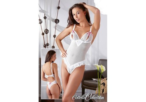 Cottelli Collection Body ouvert weiß/pink