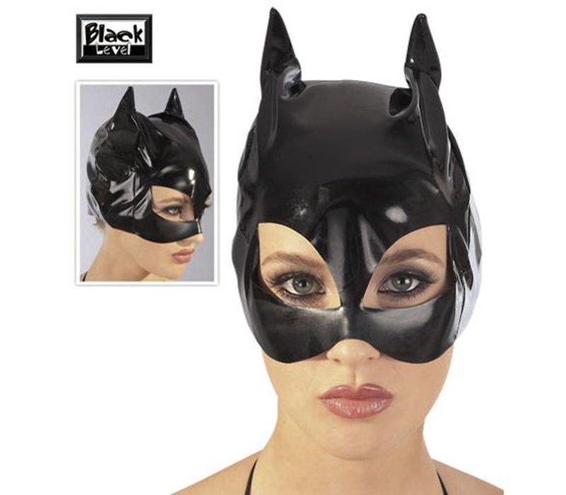 Lack Cat-Mask schwarz