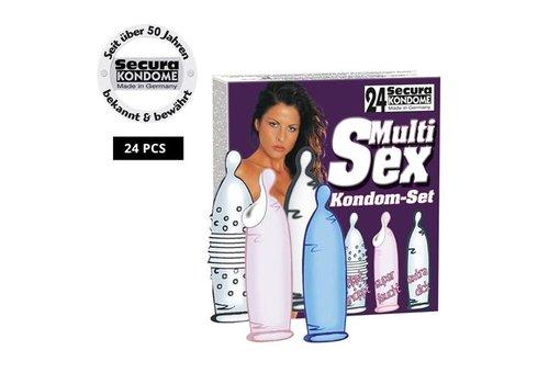 Secura Kondome Secura Kondom-Sortiment aus 4 Sorten mit je 6 Stück