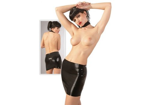 The Latex Collection Minirock aus Latex in Schwarz