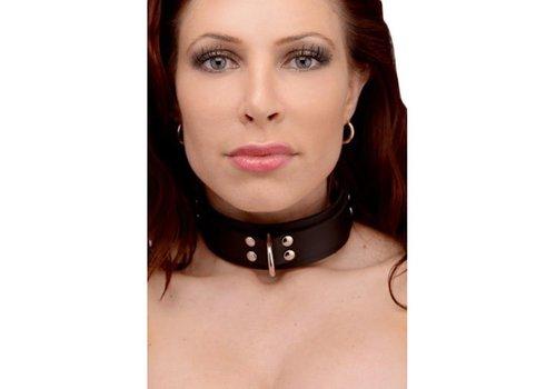 Strict Leather Slim Line Halsband aus Gummi