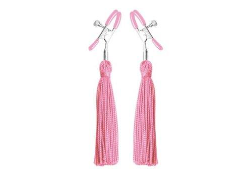 Frisky Nippelklemmen mit Quasten in Pink