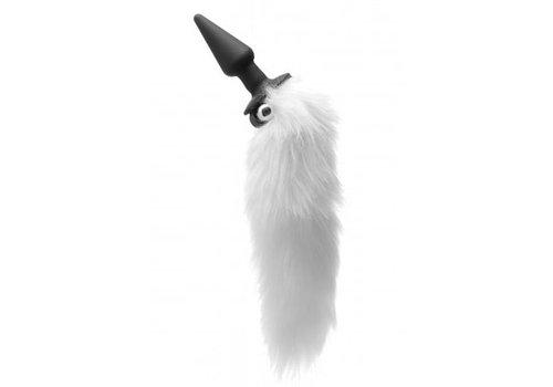 Tailz Foxxxy Fanny Vibrierender weißer Analplug mit Schwanz