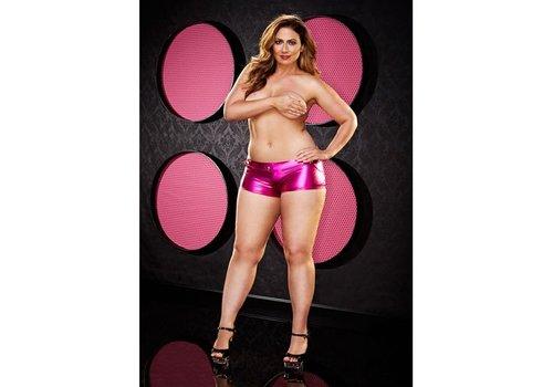 Lapdance Lingerie Twerk It Short -Plus Size - Rosa