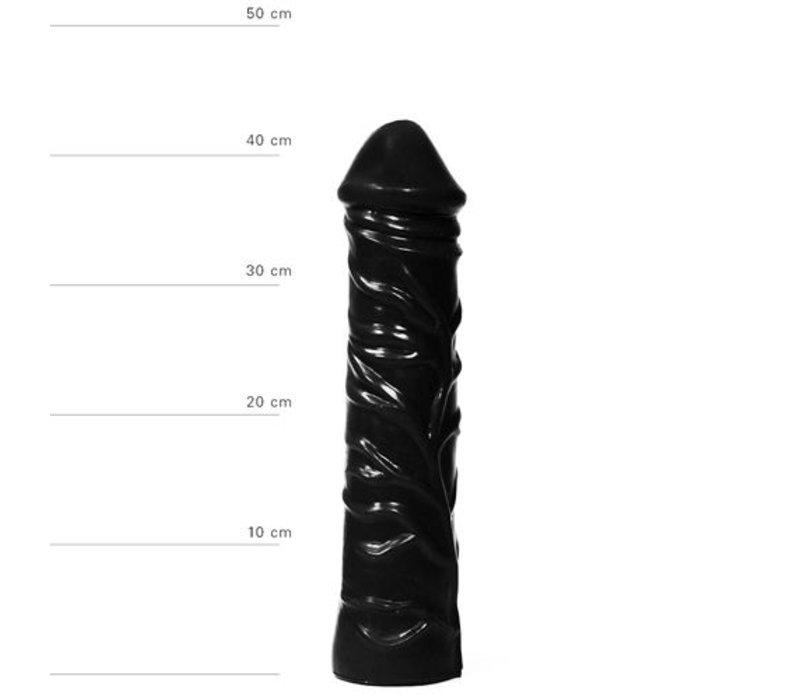 Realistischer XXL Dildo 33 cm in Schwarz