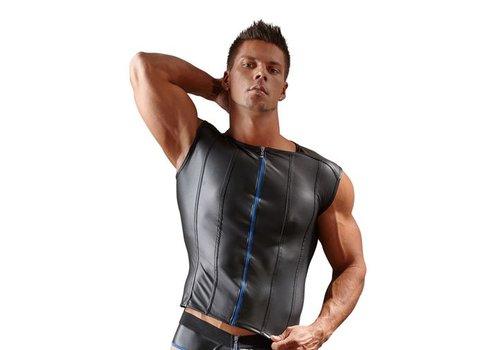 Svenjoyment Underwear Männer-Shirt mit blauem Reißverschluss