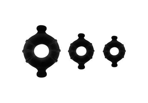 Shots Toys Gummy Ring Set - Schwarz