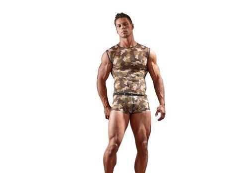 Svenjoyment Underwear Shirt mit Military-Print