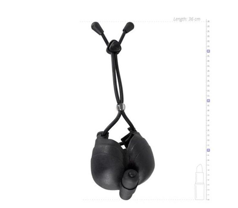 Hodentasche und Penisring mit Kugelvibrator Loop