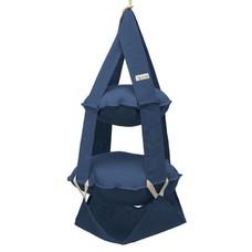 2k trapeze jute blauw