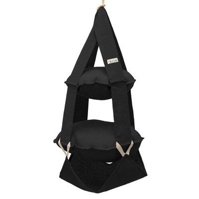 2k trapeze jute zwart