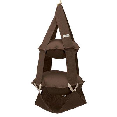 2p trapeze jute brown
