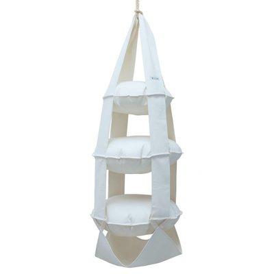 3k trapeze katoen gebleekt (wit)