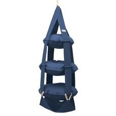 3k trapeze jute blauw