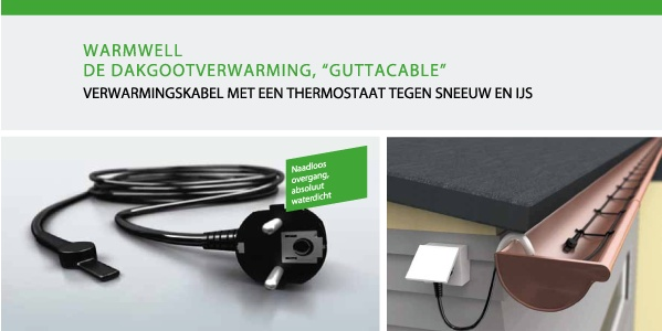 Dakgootverwarming GUTTACABLE WARMWELL