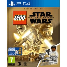PS4 LEGO Star Wars: The Force Awakens Deluxe Edition + Finn Lego Figuur + Season Pass