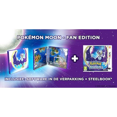 3DS Pokemon Moon + Steelcase (Fan Edition)