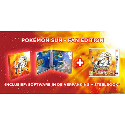 3DS Pokémon Sun + Steelcase | Fan Edition