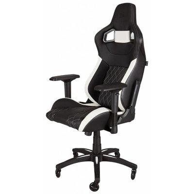 PC Corsair T1 RACE Gaming Chair - Black / White