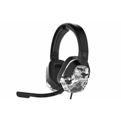 PS4 Afterglow - LVL 5 Plus - Wired Stereo Headset (Quadboost) (White Camo)