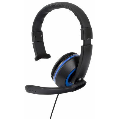 PS4 Gioteck, XH-50 Wired Mono Headset (Black / Blue)