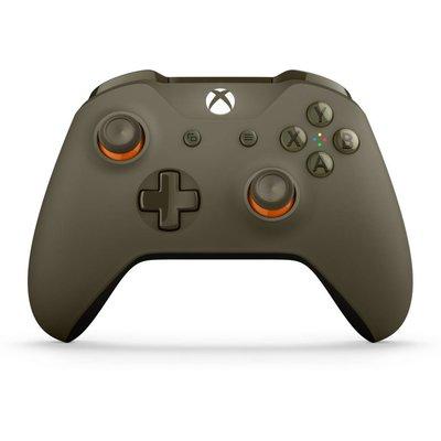 Xbox One Draadloze Controller - Army Green / Orange