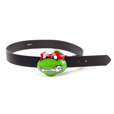 Merchandise Ninja Turtles - Angry Raphael Buckled Riem - Maat L (Zwart)