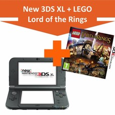 Nintendo New 3DS XL Console, Metalic Black + LEGO Lord Of The Rings