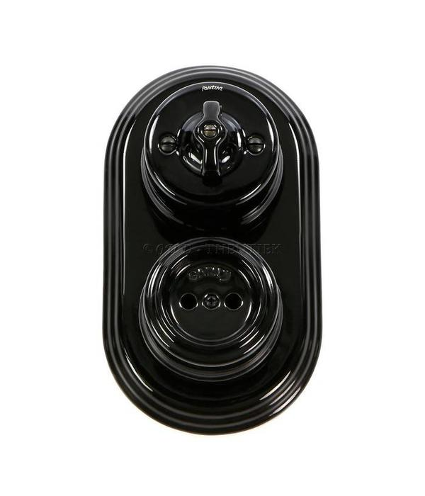 Porselein stopcontact 1910