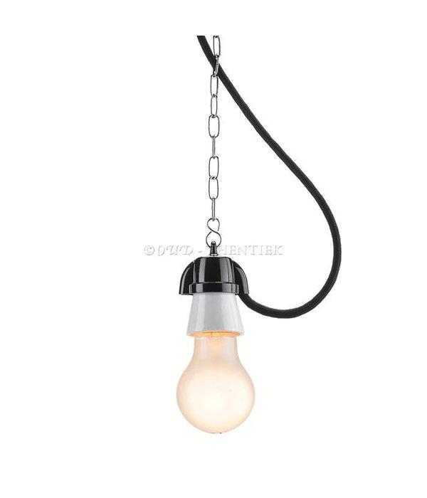 Hanglamp van bakeliet & porselein