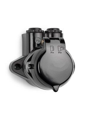 Bakeliet stopcontact IP44 - 1930
