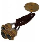 Hanglamp '3 times Edison' messing