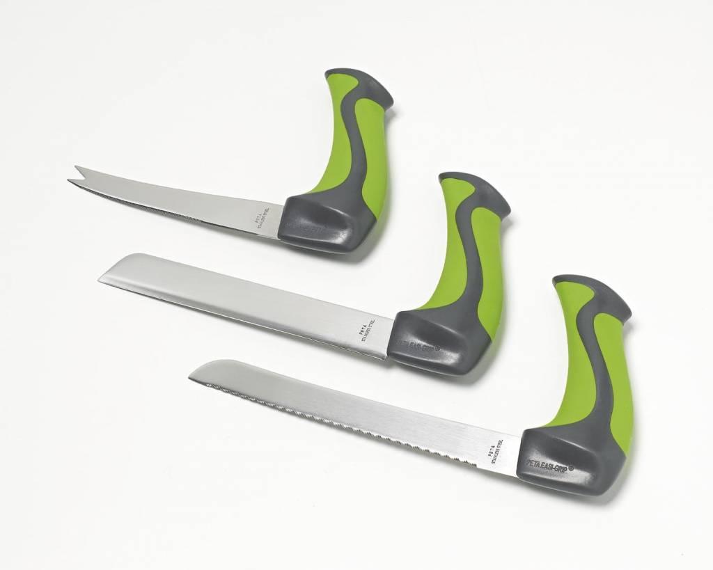 Gehoekt mes met ergonomische handvat