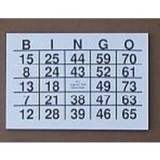 Bingoblok grootletter - cijfer