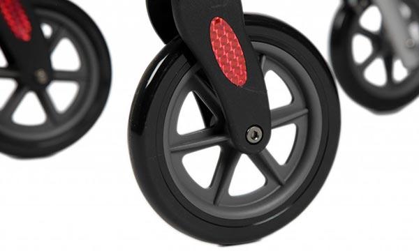 wheelzahead wendbare wielen indoor rollator