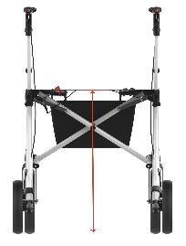 explorer rollator verkrijgbaar in 2 zithoogtes