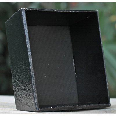 Vierkant bakje zwart  L