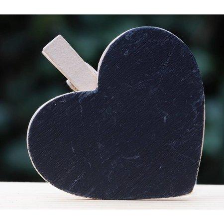 Schrijfbordje in de vorm van een hartje